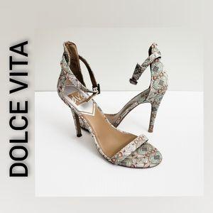 DOLCE VITA Heel Sandals Size 8 Multi Color